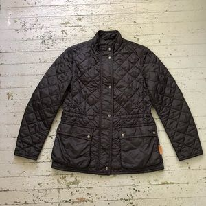 Black Quilted Coach Jacket
